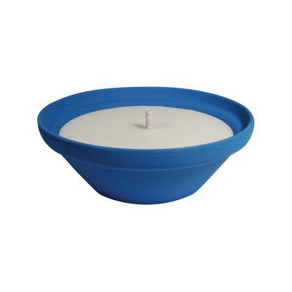bougie pot vasque en terre cuite mediterraneo 70x155mm citronnelle insecticide pour extérieur