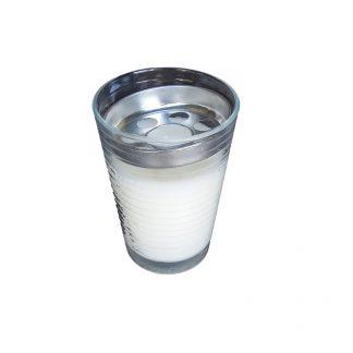 bougie dans un verre avec grille coupe vent verrine 90x70mm pour extérieur ou intérieur