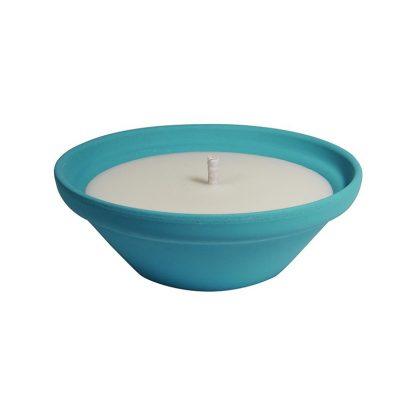 bougie extérieur vasque mediterraneo GM bleu turquoise